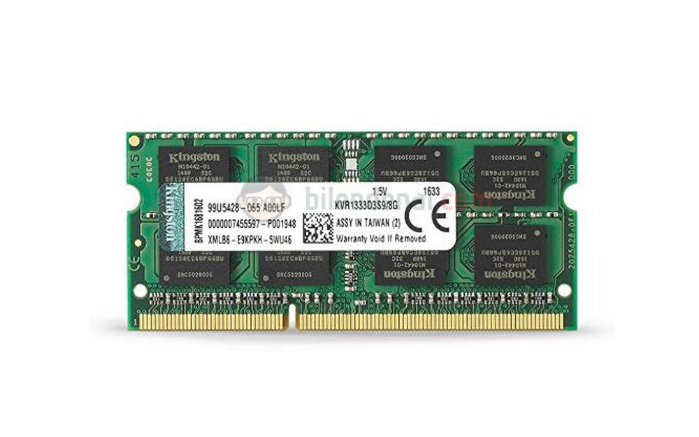 Kingston 8 GB DDR3 1333 MHz CL9 Notebook Rami KVR1333D3S9/8G