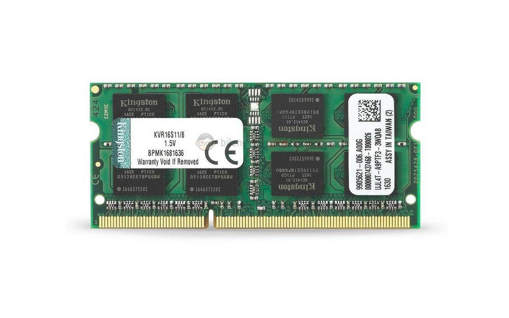 Kingston 8 GB DDR3 1600 MHz CL11 Notebook Rami KVR16S11/8