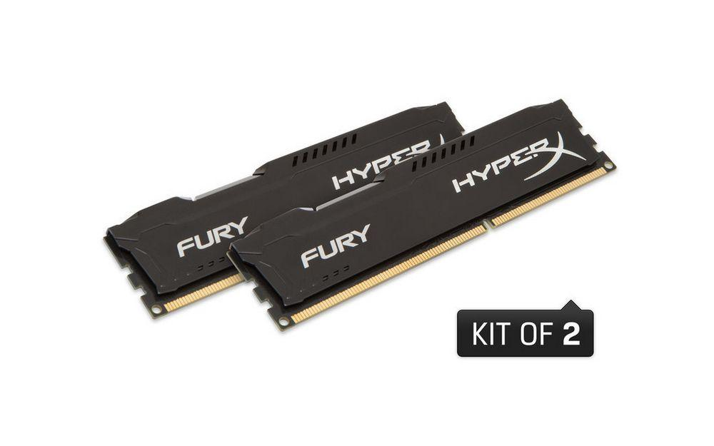 Kingston Hyperx FURY 8 GB DDR3 1600 MHz CL10 Performans Ram Kiti (2x4GB) HX316C10FBK2/8