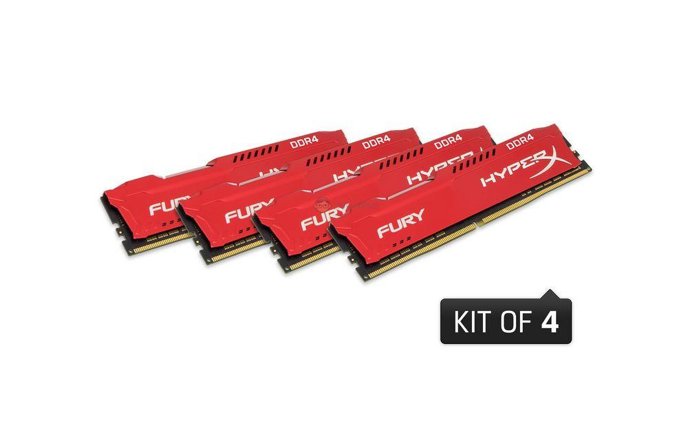 Kingston Hyperx FURY 32 GB DDR4 2666 MHz CL16 Performans Ram Kiti (4x8GB) HX426C16FR2K4/32