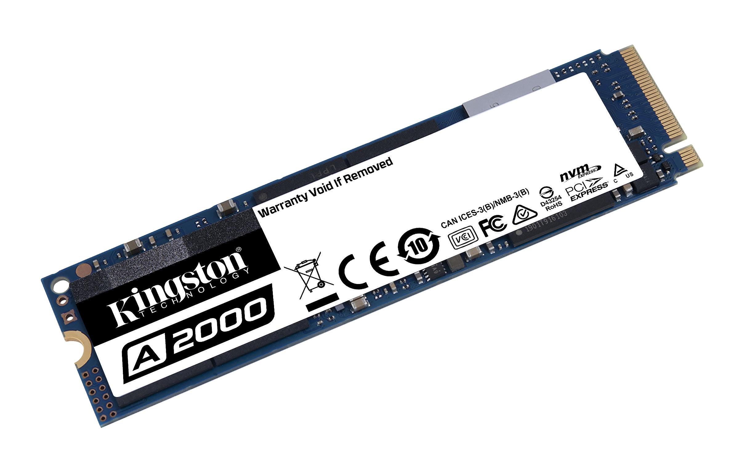 Kingston A2000 250GB 22x80mm PCIe 3.0 x4 M.2 NVMe SSD SA2000M8/250G